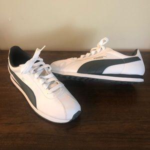 New Men's Puma Turin White-Dark Shadow 9.5 Trainer